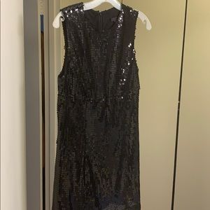 Privee Black Sequined Mini Dress
